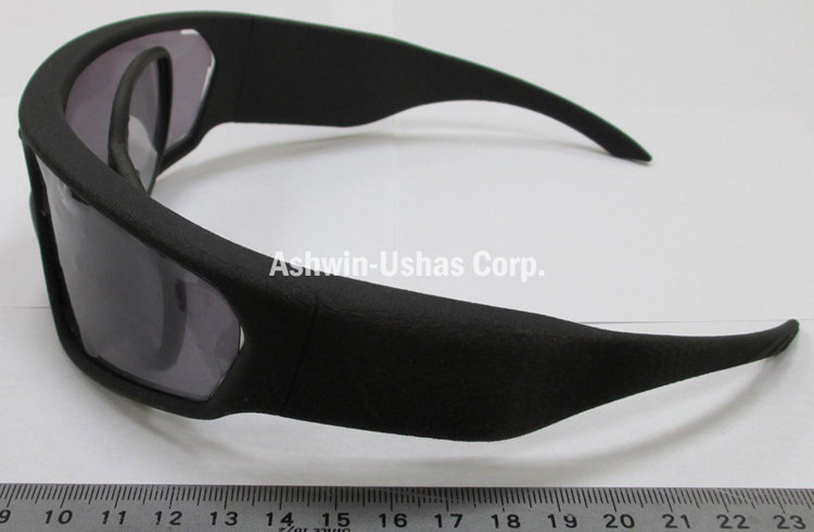Safety sunglasses prototype with prescription insert: bare sunglasses