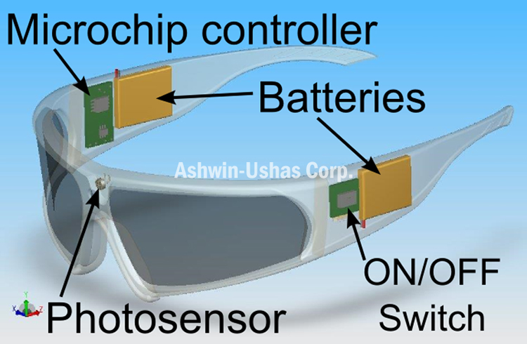 Safety sunglasses prototype with prescription insert: schematic
